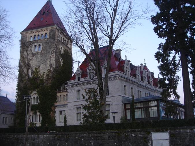 Resultado de imagen de castillo-hotel Ouchy, lago lemán